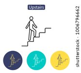 upstairs icon sign. career... | Shutterstock .eps vector #1006796662
