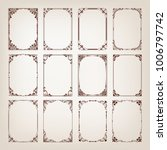 set of vintage frames with... | Shutterstock .eps vector #1006797742