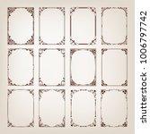 set of vintage frames with... | Shutterstock .eps vector #1006797742