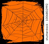 halloween party backdrop with... | Shutterstock .eps vector #1006802992