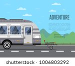 road adventure poster with... | Shutterstock .eps vector #1006803292