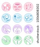 spa salon vector symbols set | Shutterstock .eps vector #1006808302