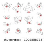 pain vector set  woman body... | Shutterstock .eps vector #1006808335