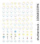 weather icons set  forecasts... | Shutterstock .eps vector #1006810396