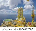 oil and gas industry. aerial...   Shutterstock . vector #1006812388