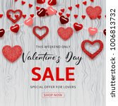 happy valentine's day sale... | Shutterstock .eps vector #1006813732