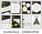abstract vector layout... | Shutterstock .eps vector #1006813936