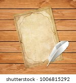 vintage worn blank paper script ... | Shutterstock .eps vector #1006815292