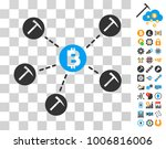 bitcoin mining pool icon with...