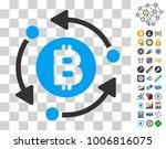 bitcoin rotation arrows icon...