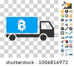 bitcoin delivery car pictograph ...