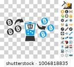 bitcoin mixer pictograph with...