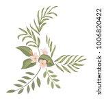tropical botanical bouquet.... | Shutterstock .eps vector #1006820422