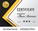 certificate template luxury and ... | Shutterstock .eps vector #1006823965