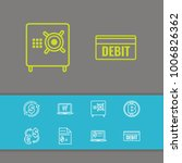 finance icons set with virtual...