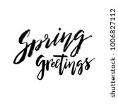 spring greetings   hand drawn... | Shutterstock .eps vector #1006827112
