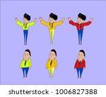 vector illustration of cartoon... | Shutterstock .eps vector #1006827388