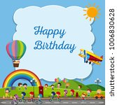 birthday card template with... | Shutterstock .eps vector #1006830628