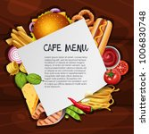 cafe menu background template... | Shutterstock .eps vector #1006830748