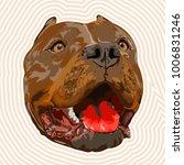 pit bull portrait | Shutterstock .eps vector #1006831246