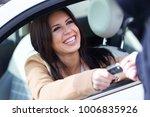 portrait of car rental agency... | Shutterstock . vector #1006835926