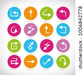 arrow icons in colorful buttons | Shutterstock .eps vector #1006842778