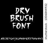 handdrawn dry brush font....   Shutterstock .eps vector #1006844932