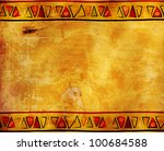 grunge background with african... | Shutterstock . vector #100684588