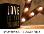 vintage love is all you need... | Shutterstock . vector #1006847815
