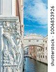 venice   bridge of sighs  ponte ... | Shutterstock . vector #1006853926