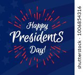 happy president day banner with ... | Shutterstock .eps vector #1006854316