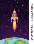 space rocket flying in space... | Shutterstock .eps vector #1006854892