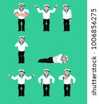 sailor set poses and motion.... | Shutterstock .eps vector #1006856275