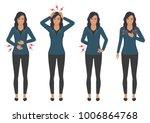 vector illustration of a sick...   Shutterstock .eps vector #1006864768