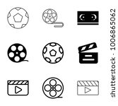 cinematography icons. set of 9... | Shutterstock .eps vector #1006865062