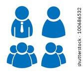 vector user icons set | Shutterstock .eps vector #100686532