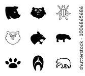 wildlife icons. set of 9... | Shutterstock .eps vector #1006865686