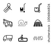 moving icons. set of 9 editable ... | Shutterstock .eps vector #1006866826