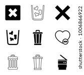 delete icons. set of 9 editable ... | Shutterstock .eps vector #1006866922