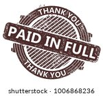 paid in full rubber stamp | Shutterstock .eps vector #1006868236