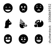character icons. set of 9... | Shutterstock .eps vector #1006869352
