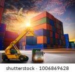container cargo freight ship... | Shutterstock . vector #1006869628