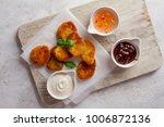 fried crispy chicken nuggets...   Shutterstock . vector #1006872136