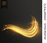 golden swirl magic light effect ...   Shutterstock .eps vector #1006879372