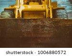 yellow excavator.  close up... | Shutterstock . vector #1006880572