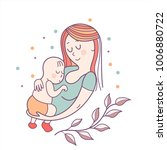 greeting card mother's day. a... | Shutterstock .eps vector #1006880722