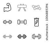 bodybuilding icons. set of 9... | Shutterstock .eps vector #1006885396
