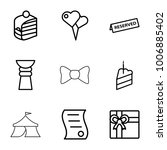 celebration icons. set of 9... | Shutterstock .eps vector #1006885402