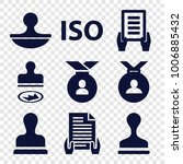 certified icons. set of 9... | Shutterstock .eps vector #1006885432
