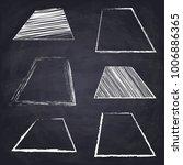 chalk drawn acute trapezoid.... | Shutterstock .eps vector #1006886365